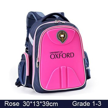 School Backpack UNIVERSITY OF OXFORD children student/books/orthopedic school bag backpack portfolio rucksack for girls for class/grade 1-3 AT_48_3