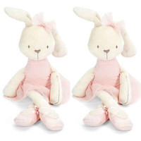 2016 Hot 42cm Soft Stuffed Animal Bunny Rabbit Plush Doll Toy Birthday Girl Kid Gift Kawaii Kids Stuffed Toys For Children Dolls