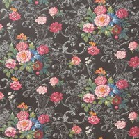 Venetian Bouquet Wallpaper by Anthropologie Black & White One Size House & Home