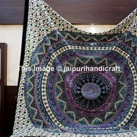 Mandala Tapestries, Indian Bedspread, Bohemian Tapestries, Wall Hanging, Beach Blanket