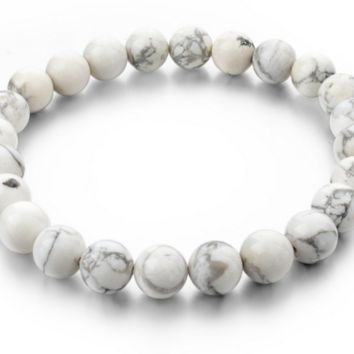 White Volcano Stone Fashion Bracelet