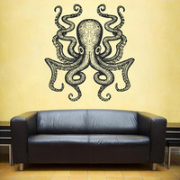 kik1201 Wall Decal Sticker octopus marine animals living room bathroom