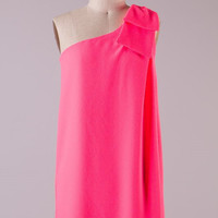 Save the Date Dress - Neon Pink