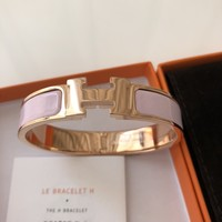 100% Authentic Hermes clic H Rose dragee with RGHW