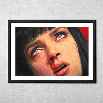 Mia Wallace, Painting - Wall art Poster - Fine Art Print for Interior Decoration