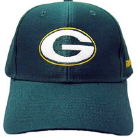 NFL Green Bay Packers Basic Logo Velcro Closure Baseball Hat, Team Primary Color