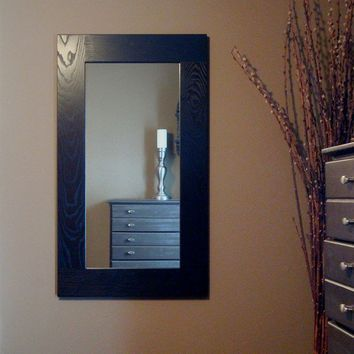Wood Framed Wall Mirror Ultra Dark Espresso by KennethDante