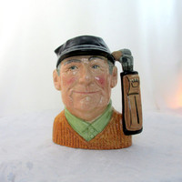 "Large Royal Doulton 1970's ""Golfer"" Mug Number D6627 Made In England Vintage Collectible Gift Item 2236"