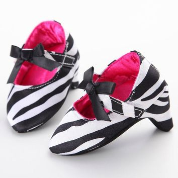 Newborn Baby Girl Princess Sweet Beautiful Baby Toddler Baby Crib Shoes Bow High Heels for Photos