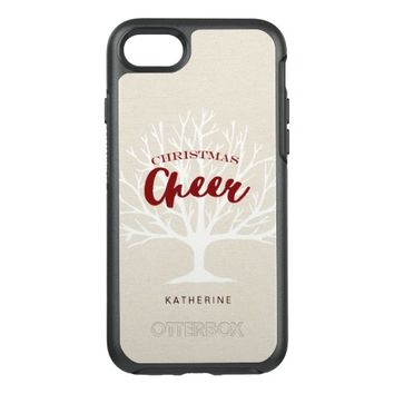 Vintage Christmas Cheer Script Holiday OtterBox Symmetry iPhone 7 Case