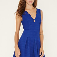 Textured V-Cut Dress | Forever 21 - 2000152508