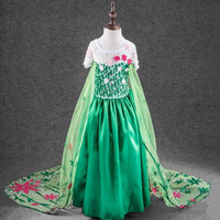 Frozen Fever Inspired Dress - elsa frozen fever, elsa, frozen fever, elsa, anna, elsa and anna, frozen fever costume, birthdays