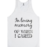 In Loving Memory-Unisex White Tank