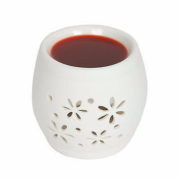 Village Candle Daisy Small Round Ceramic Melt Warmer