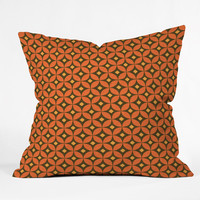 Caroline Okun Pumpkin Spice Outdoor Throw Pillow