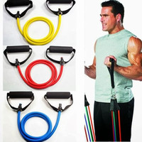 Resistance Band Yoga Pilates Abs Exercise Fitness Tube Workout Bands = 1932589892