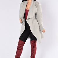 Manhattan Coat - Heather Grey