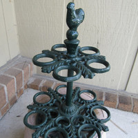Vintage Cast Iron Pipe Stand / Folk Rustic Decor / Retro Victorian Farmhouse Style Candle Holder / Candle Stand / Pipe Stand