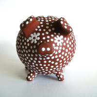 Piggy Bank Zeuthen Denmark Scandinavian Redware by pillowsophi