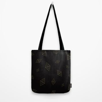 Golden Crystals Tote Bag by All Is One