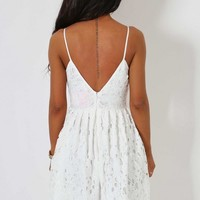 Cloud Nine White Lace Dress | Pink Boutique
