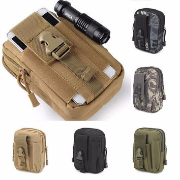 For Tactical Holster Military Molle Hip Waist Belt Bag Wallet Pouch Purse Phone Case