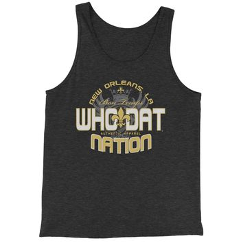 Who Dat Nation New Orleans (Color) Jersey Tank Top for Men