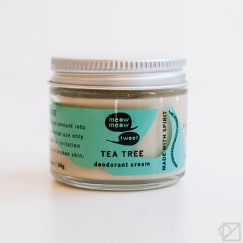 Meow Meow Tweet Deodorant Cream Tea Tree