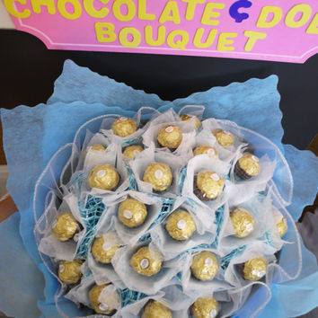 Birthday/wedding gift! Ferrero Rocher Chocolate Flower Bouquet