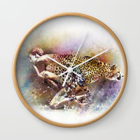 D'apparence sauvage Wall Clock by Galerie40