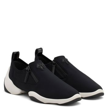 Giuseppe Zanotti Gz Light Jump Lt1 Black Neoprene Low-top Sneaker
