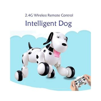 RC Walking Dog 2.4G Wireless Remote Control Smart Dog Electronic Pet Children's Toy Birthday Christmas Gift for Kids