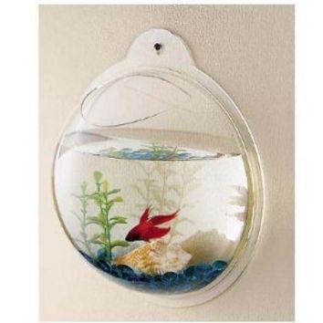 wall mount hanging beta fish bubble from amazon. Black Bedroom Furniture Sets. Home Design Ideas