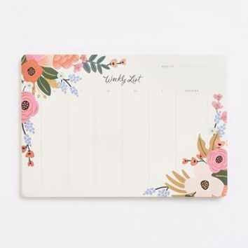 Rifle Paper Co. Floral Lively Floral Weekly Desk Pad