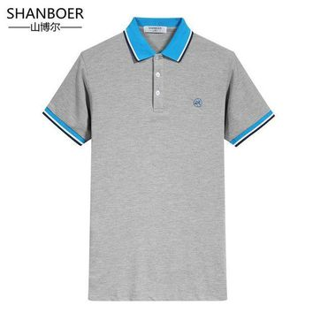 ESBON Polo Men 2018 Hot Regular Sale Solid Polo Brand Clothing New Men Shirt Business Contrast Color Male Short Sleeve Embroidery