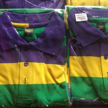 Women's Mardi Gras Polo Shirt