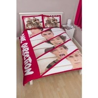 One Direction 'Boyfriend' Reversible Double Duvet Cover And Pillowcase Brands Panel Comforter And Pillow Not Included