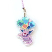 Doublesided 1.5 Inch Espeon Charm