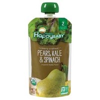 Happy Baby Clearly Crafted Stage 2 Organic Baby Food, pear, kale & spinach - 4oz