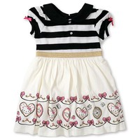Toddler Girls' Hello Kitty Border Print Dress - Eggshell