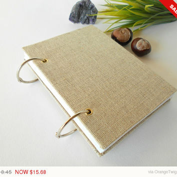 Sale -Autumn sale Travel ring journal with 200 pages- A4, A3, A6,A5- refillable journal with ring binding -handmade Holidays gift favor
