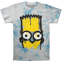Simpsons Men's  El Barto Tie Dye T-shirt Multi