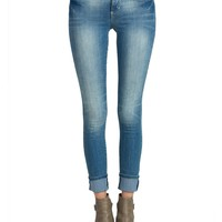 Faded Denim Skinny Jeans