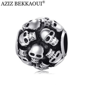 Skull beads charm fit bracelet necklace