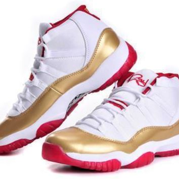 Cheap Air Jordan 11 Retro Men Shoes Ray Allen Two Rings Championship PE
