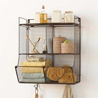Four-Bin Wire Hanging Shelf - VivaTerra