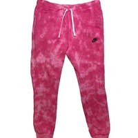 "Nike X Jeffersons Custom Tonal Tie Dye Washed Jogger Sweatpant ""HOT PINK"""
