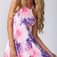 KISS AND TELL DRESS IN PINK AND PURPLE - Popcherry
