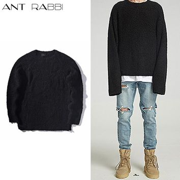 Ant rabbi 2017New Quality fashion Designer clothing kanye west Designer Clothes Oversized pullover men knitted oversized sweater