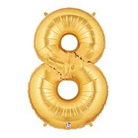 """Number Eight 40"""" Foil Balloon"""